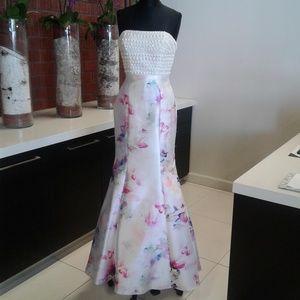 f89ee42cdeb Rachel Allan Dresses - Rachel Allan E1013 White Pink